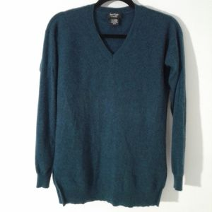 Lord and Taylor 100% Cashmere V-neck Sweater XS/S